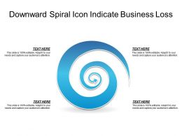 Downward Spiral Icon Indicate Business Loss