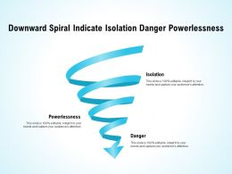 Downward Spiral Indicate Isolation Danger Powerlessness