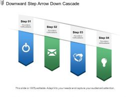 Downward Step Arrow Down Cascade
