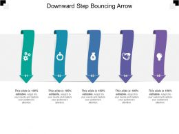 Downward Step Bouncing Arrow