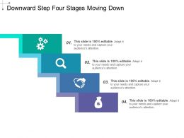 Downward Step Four Stages Moving Down