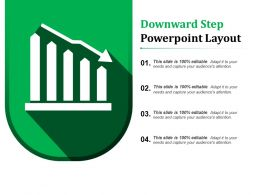 Downward Step Powerpoint Layout