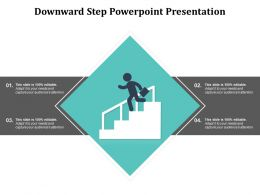 Downward Step Powerpoint Presentation