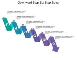 Downward Step Six Step Spiral