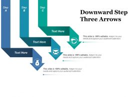 Downward Step Three Arrows