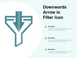 Downwards Arrow In Filter Icon