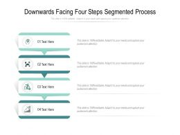Downwards Facing Four Steps Segmented Process