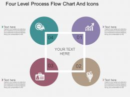dp Four Level Process Flow Chart And Icons Flat Powerpoint Design