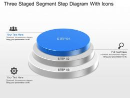 Dp Three Staged Segment Step Diagram With Icons Powerpoint Template