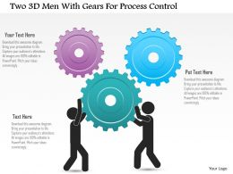 Dp Two 3d Men With Gears For Process Control Powerpoint Template