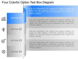 dq Four Colorful Option Text Box Diagram Powerpoint Template