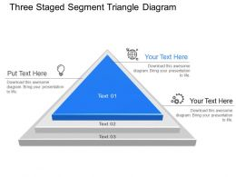 Dq Three Staged Segment Triangle Diagram Powerpoint Template