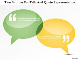 dq_two_bubbles_for_talk_and_quote_representation_powerpoint_template_Slide01