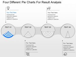dr Four Different Pie Charts For Result Analysis Powerpoint Template