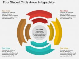 dr Four Staged Circle Arrow Infographics Flat Powerpoint Design