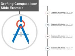 Drafting Compass Icon Slide Example
