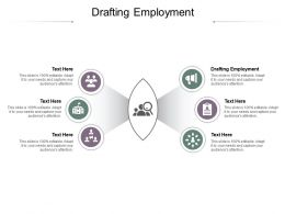 Drafting Employment Ppt Powerpoint Presentation Styles Files Cpb