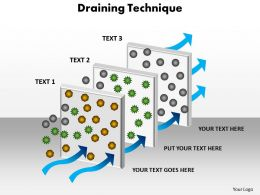 draining  technique filteration process powerpoint diagram templates graphics 712