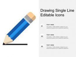 Drawing Single Line Editable Icons