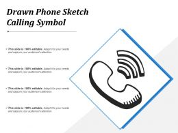 Drawn Phone Sketch Calling Symbol