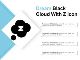 Dream Black Cloud With Z Icon