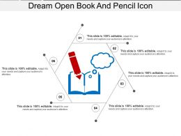 Dream Open Book And Pencil Icon