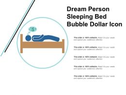 Dream Person Sleeping Bed Bubble Dollar Icon