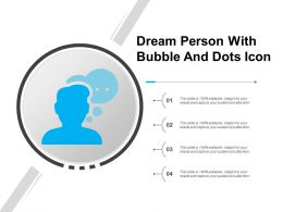 Dream Person With Bubble And Dots Icon
