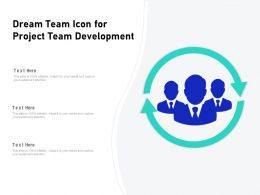 Dream Team Icon For Project Team Development