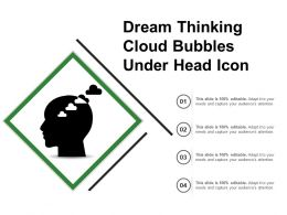 Dream Thinking Cloud Bubbles Under Head Icon