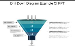 Drill Down Diagram Example Of Ppt