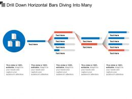 Drill Down Horizontal Bars Diving Into Many