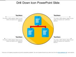 Drill Down Icon Powerpoint Slide