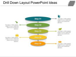 Drill Down Layout Powerpoint Ideas