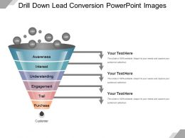 Drill Down Lead Conversion Powerpoint Images
