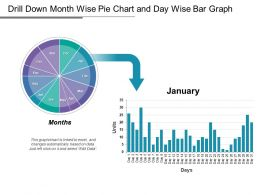 Drill Down Month Wise Pie Chart And Day Wise Bar Graph
