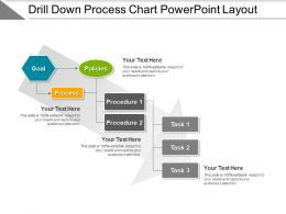 Drill Down Process Chart PowerPoint Layout