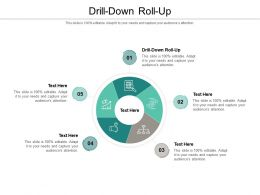 Drill Down Roll Up Ppt Powerpoint Presentation Icon Graphics Design Cpb