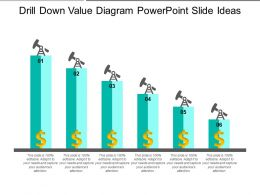 Drill Down Value Diagram PowerPoint Slide Ideas