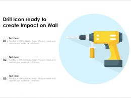 Drill Icon Ready To Create Impact On Wall