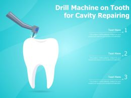 Drill Machine On Tooth For Cavity Repairing