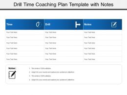 Drill Time Coaching Plan Template With Notes