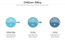 Drilldown Billing Ppt Powerpoint Presentation Layouts Graphic Images Cpb