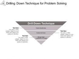 Drilling Down Technique For Problem Solving