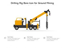 Drilling Rig Bore Icon For Ground Mining