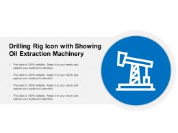 Drilling Rig Icon With Showing Oil Extraction Machinery