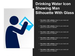 Drinking Water Icon Showing Man Silhouette With Glass