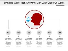 Drinking Water Icon Showing Man With Glass Of Water