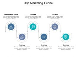 Drip Marketing Funnel Ppt Powerpoint Presentation Styles Icons Cpb