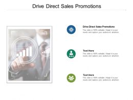 Drive Direct Sales Promotions Ppt Powerpoint Presentation Diagram Images Cpb